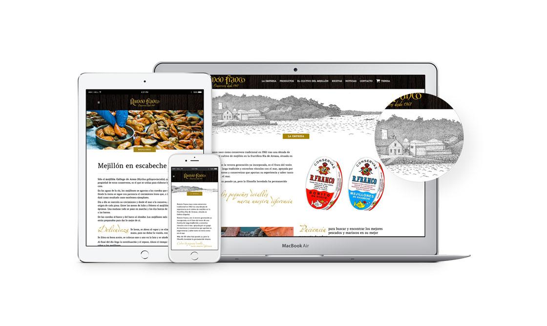 Diseño web conservera Ramón Franco