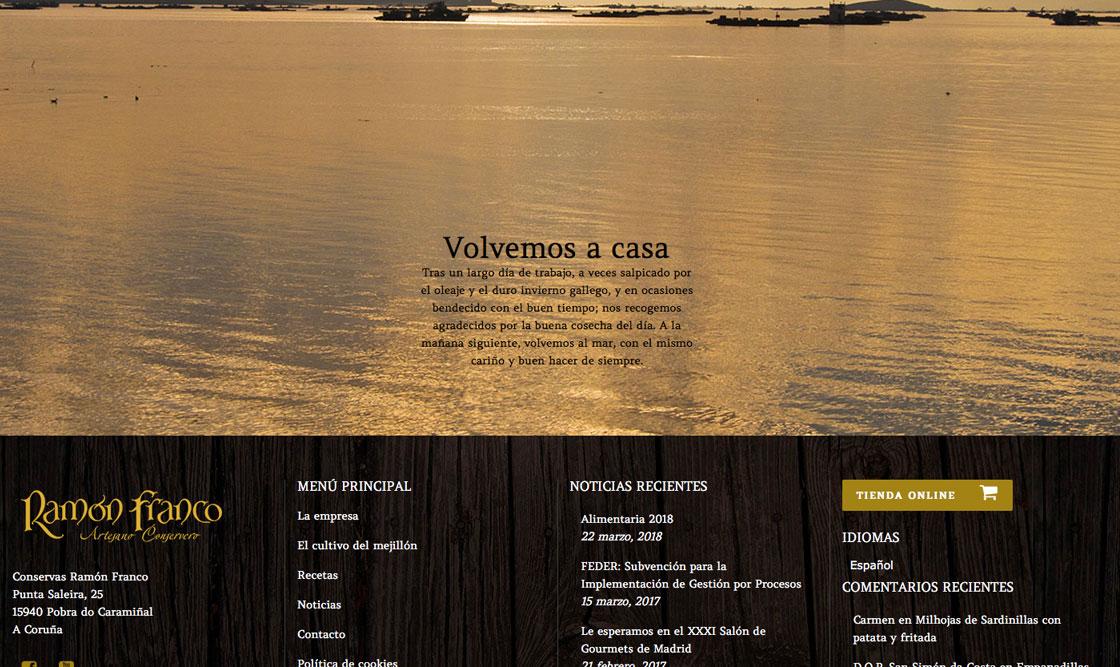 Diseño web empresa conservas