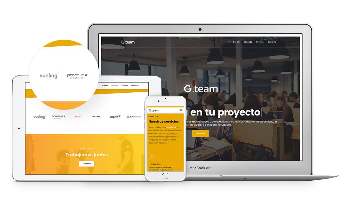 Diseño web consultoría