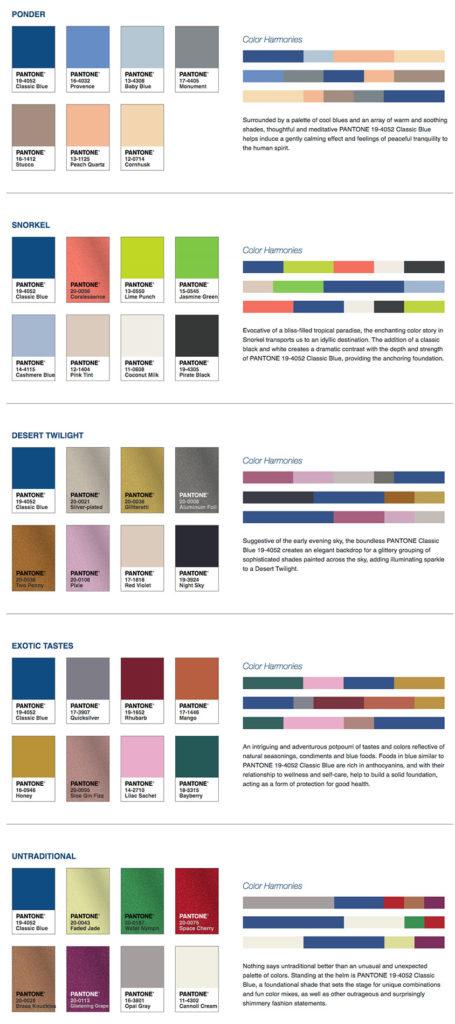 Paletas de colores Pantone del año 2020
