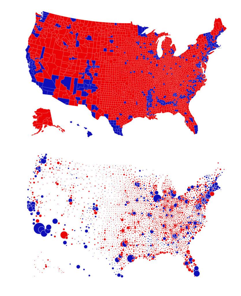 Mapa Infografía elecciones 2020 USA